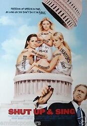 Dixie Chicks Shut Up And Sing U.s. Promo Poster - Country Bluegrass Rock Music