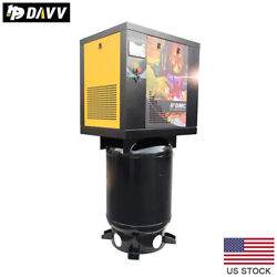 5.5hp 1 Phase Rotary Screw Air Compressor 16cfm@175psi With 60 Gallon Asme Tank