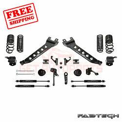 Fabtech 7 Radius Arm Sys W/coil Springs And Stealth Shocks For 14-17 Ram 2500 4wd