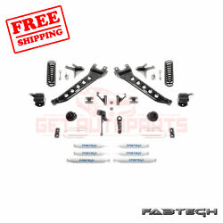 Fabtech 7 Radius Arm Sys W/coil Springs And Front Andrear Shocks For 13-17 Ram 3500