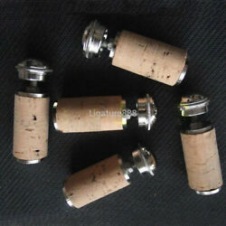 5 Set Flute Headjoint Cork And Crown Repair Parts - Made Of Real Wood - 2021 New