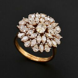 2.65 Tcw Si/hi Marquise Pear Oval Diamond Cluster Ring 14k Yellow Gold Jewelry
