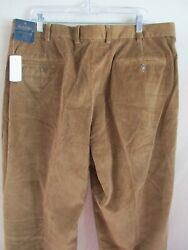 Brooks Brothers Hudson Brown French Cotton Corduroy Pants 40 30 Nwt New