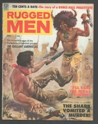 Rugged Men 9/1958-stanley-indian Tomahawk Fight Cover-dime A Dance Girls-t'...