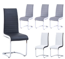 Office Guest Chair Leather Reception Without Wheels With Sled Base Set 2/4/6/8