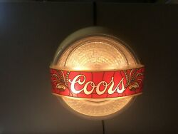 Rare Vintage 1981 Coors Lighted Disco Beer Bar Sign Spinning Mint