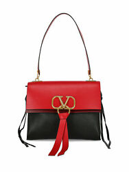 Valentino Women Shoulder Bags Vring Black Red Leather