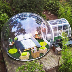 Outdoor Camping Clear Inflatable Air Dome Igloo Lawn Transparent Bubble Tent 3m