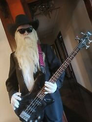 Zztop Billy Gibbons Rock Life Sized Prop Statue Figure