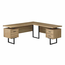 Monarch Modern Computer Desk With Brown Finish I 7612