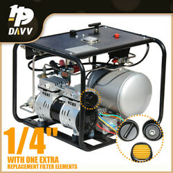 12v Driven Automatic Air Compressor Diving Breathing Supply With Hose Regulator
