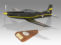 Pilatus Pc-7 Royal Netherlands Air Force Solid Wood Handcrafted Display Model