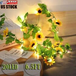 2m 20leds Artificial Flower Battery Fairy Lights String Valentineand039s Decor Us