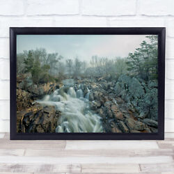 Dawn At Middle Falls Water Spring Morning Waterfall River Stream Rapid Art Print