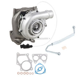 For Chevy Gmc 6.6l Duramax Lmm Turbo W/ Turbocharger Gaskets And Oil Feed Line Dac