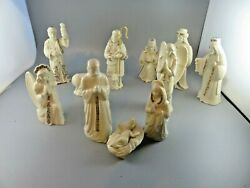11 Pieces Lenox China Jewels Christmas Nativity Figurines Collection Vintage