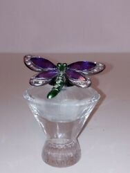 Perfume Bottle W/fitted Butterfly Stopper - Silvistri C1990and039s