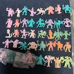 Neclos Fortress Keshi Figure Vol.4 Complet Monster Rubber Doll 40 Set With Card