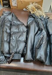 2 Black Butter Soft Leather Coats New W/tags