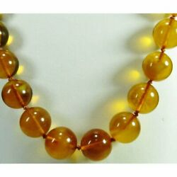 Baltic Phantom Russian Pink Amber Round Ball Necklace Power Stone Y-k140