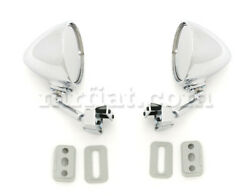 Fiat 500 600 850 Bullet Side View Mirrors Set Ver 2 New