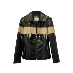 Moschino Jeans Drip Painted Jacket