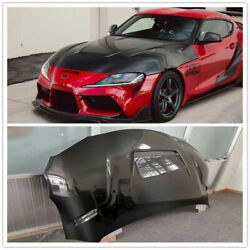 Carbon Fiber Double Sided Hood Cover For Toyota Supra Gr A90 A91 2-door Sb Style