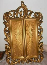 Vintage Gold Syroco Sarah Coventry Hanging Wall Jewelry Cabinet Unmarked