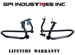 Universal Fitment - Front And Rear Motorcycle Sportbike Paddock Race Stands Lifts