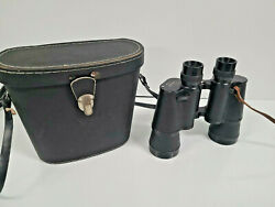 Wuest Binoculars 7 X 50 Leather Carry Case Coated Optics No Strap Vintage 74778