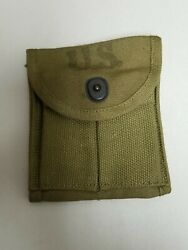 Original Us Gi Wwii M1 Carbine Khaki Stock Pouch Victory Dated 1943