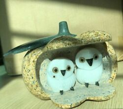 Home Decoration Natural Stone Arts And Crafts Hand Work Carved Stone Owl