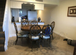 Tommy Bahama Dining Room Cayman Kitchen Table And Cedar Key Oval Back Side Chair