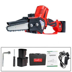 350 W Red Portable Electric Chainsaws Handheld Logging Battery Electric Saw