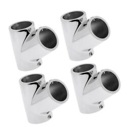 4x 316 Stainless Steel Bow And Boat Hand Rail 60 Degree Tee Fitting 1and039and039 Tube