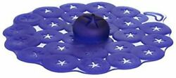Charles Viancin - Set Of 2 Blueberry 4rdquo Silicone Drink Covers - Airtight Sea