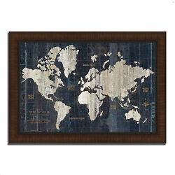 Tangletown Old World Map Blue By Wild Apple Portfolio Painting 615201-5738p120