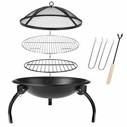 Wood Burning Patio Deck Stove Fireplace Table Fire Pit Heater Backyard Outdoor