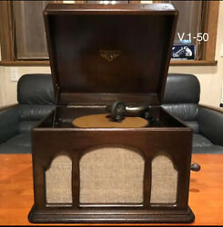 Antique Phonograph Gramophone Made By Victor J1-50 Victrola Talking Machine