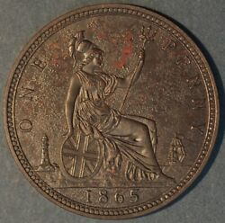 Great Britain 1865 Penny  2845