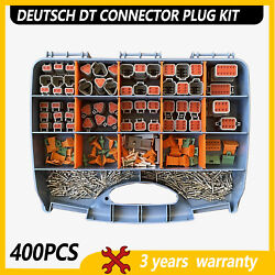 400pcs Genuine Deutsch Dt Connector Plug Kit 14-16 Awg Stamped Contacts Kit