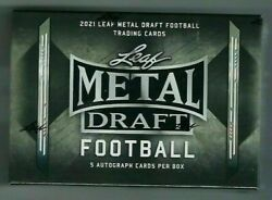 2021 Leaf Metal Draft Football Hobby Box From A Sealed Case - Trevor Lawrence Rc