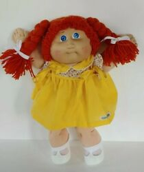 1985 Cabbage Patch Kids Headmold 4 Red Double Braid Ok Factory Doll W/diaper