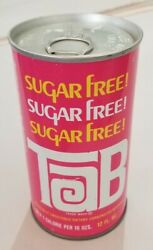 Rare 1973 Sugar Free Tab Soda Can Never Filled And Sealed, Straight Steel Pull Top