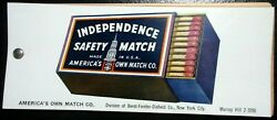 America's Own Independence Safety Match Advertisement Celluloid Ink Blotter