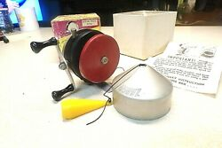 Zebco Fishing Reel W/ Box - Zero Hour Bomb Red Spinner - Reel Works Great
