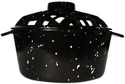Uniflame Black With White Speckles Porcelain Coated Lattice Top Steamer C-1929
