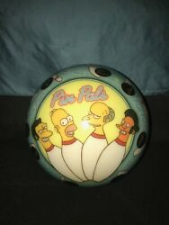 The Simpsons Pin Pals Vis-a-ball Bowling Ball. no Finger Holes. 8lbs