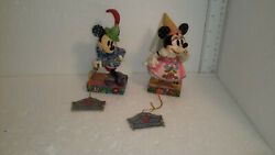 Disney Jim Shore Mickey Mouse Tailor Sew Brave Demure And Sweet Minnie Lot