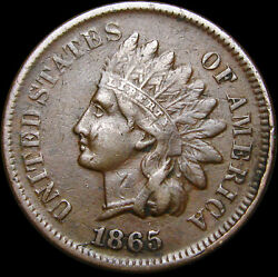 1865 Indian Cent Penny ---- Nice Us Coin ---- R400